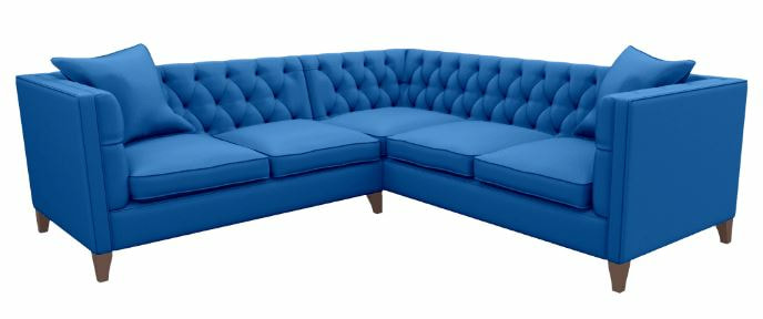 Blue Haresfield corner sofa by Sofas and Stuff